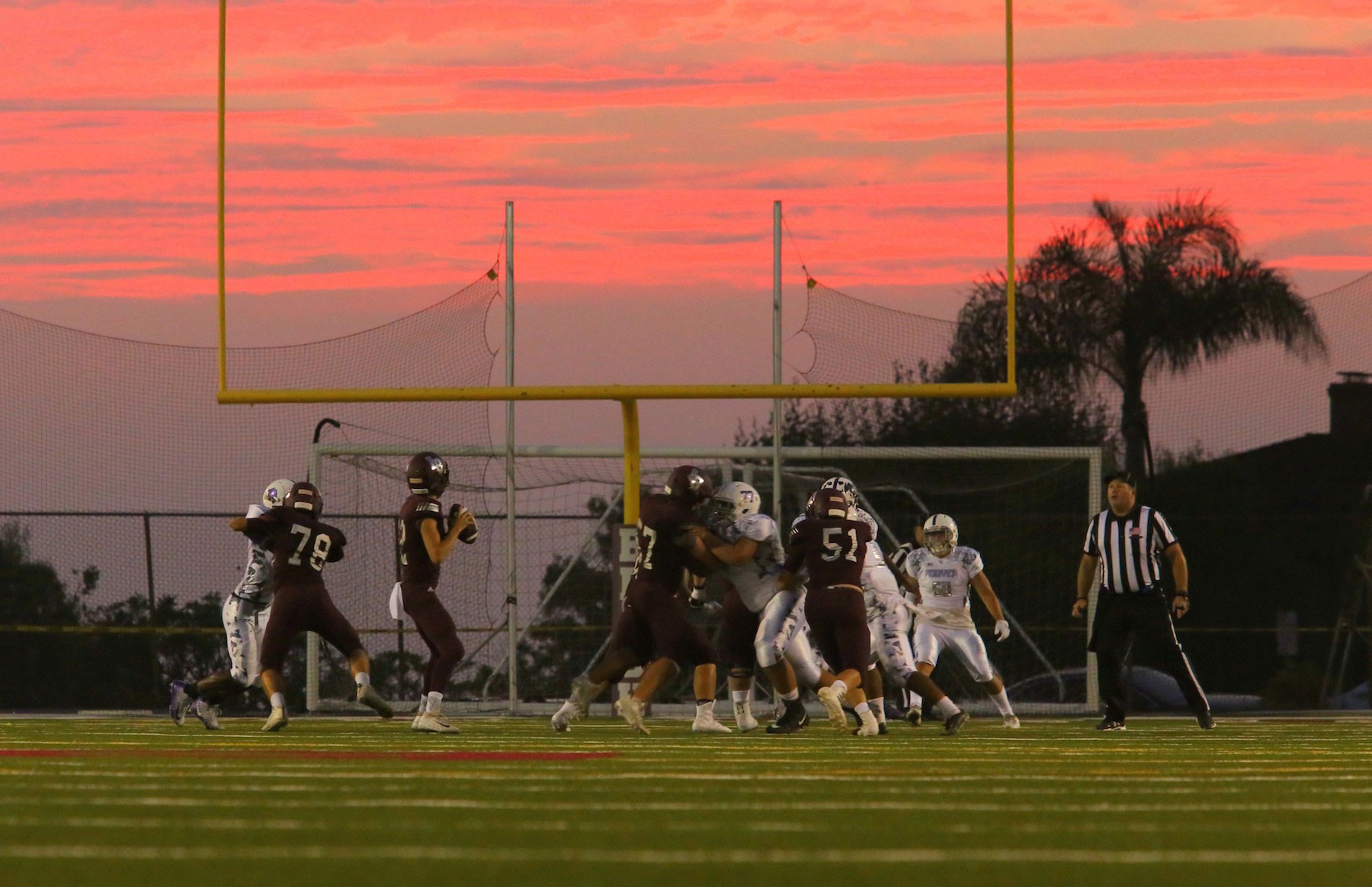LBHS Football Sunset