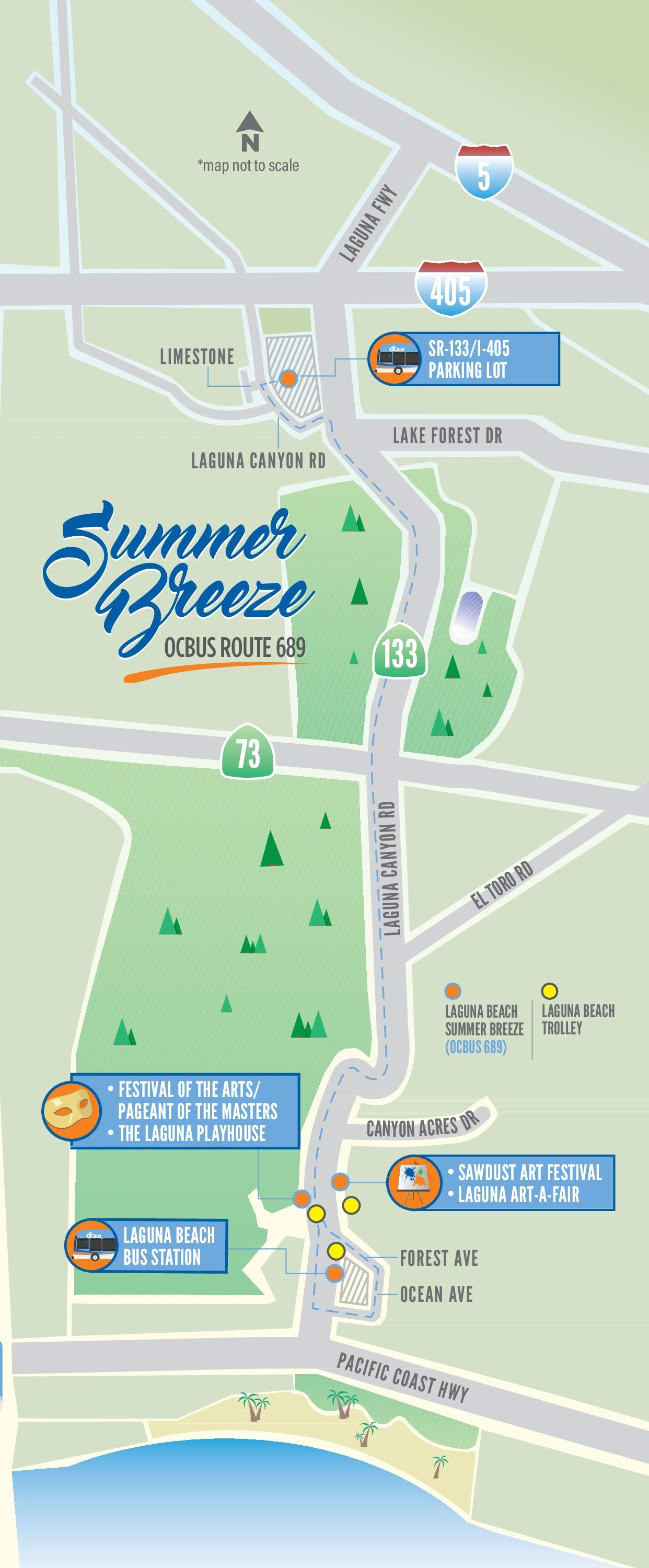 Summer Breeze Bus route