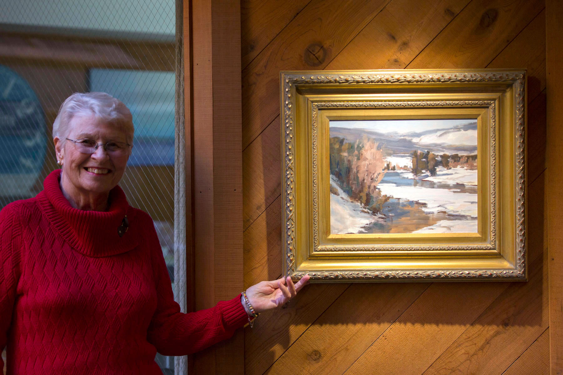 Jane Fulton with painting