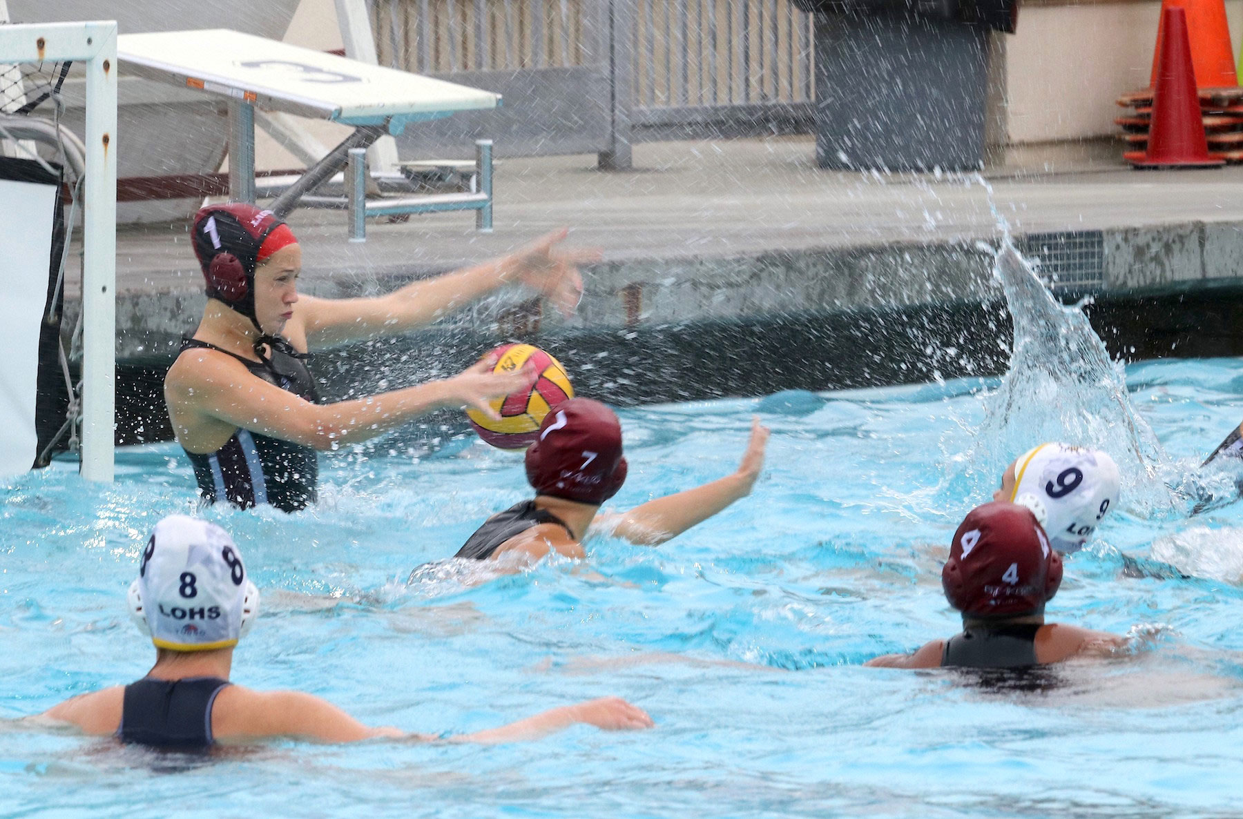 LBHS Girls splash