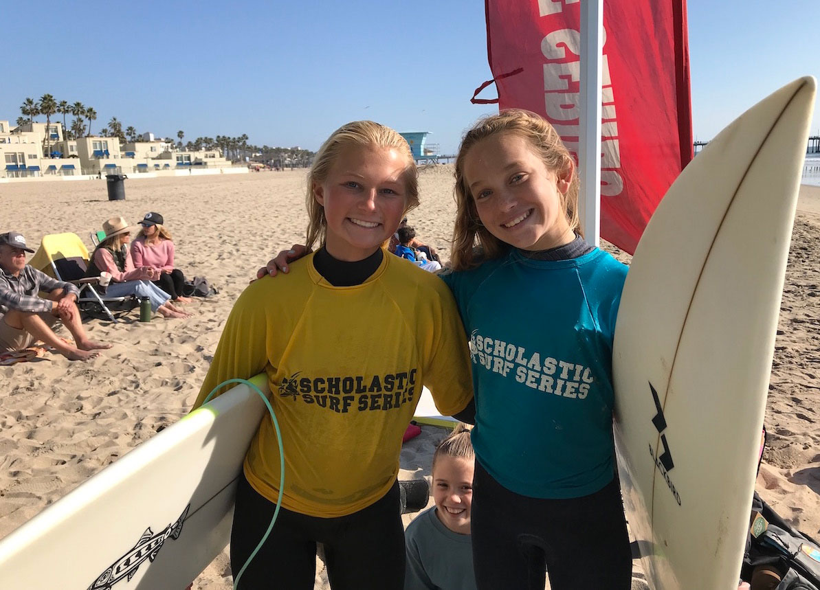 LBHS surf twosome