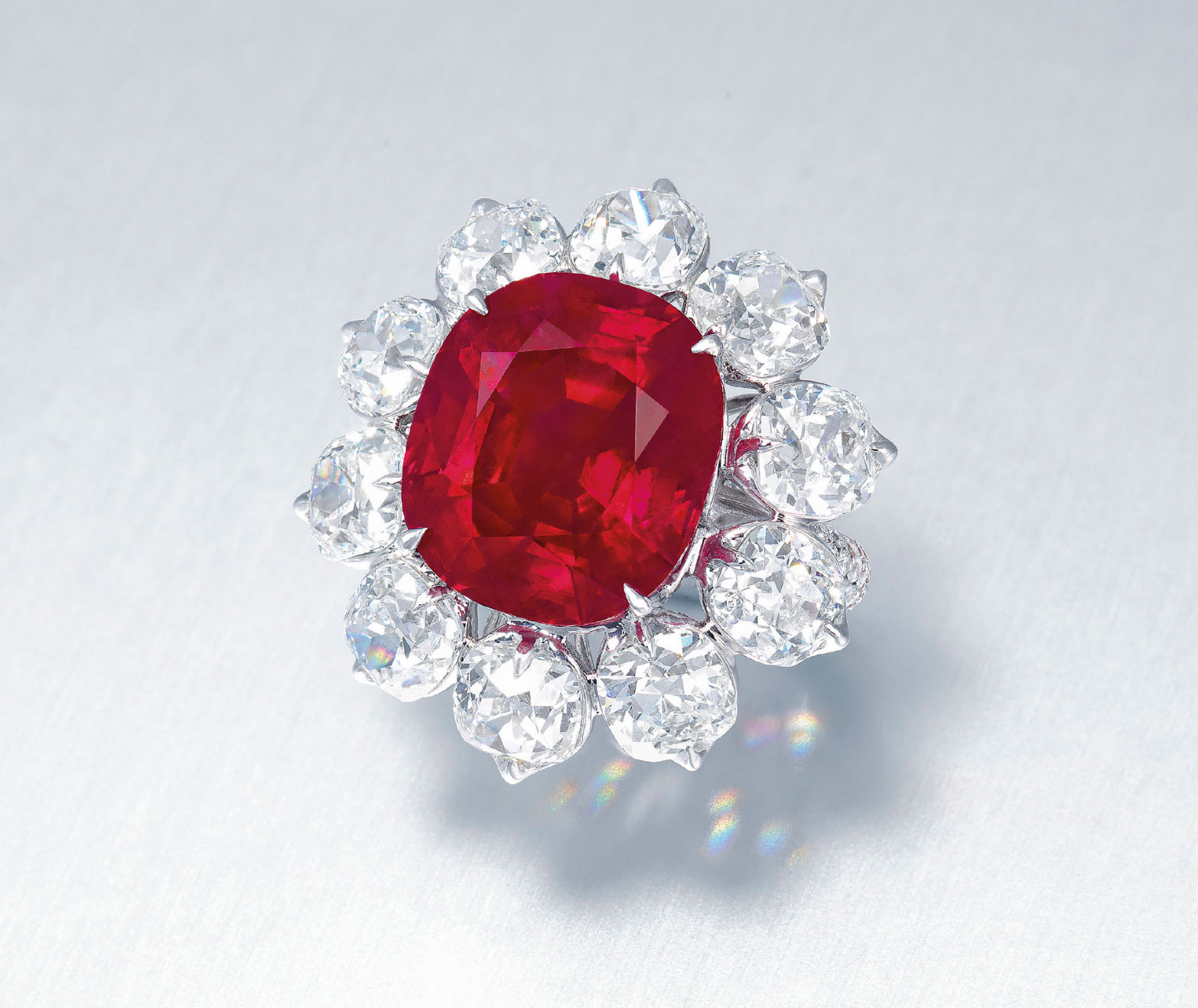 ruby among diamonds