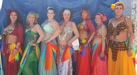 Belly dancers group