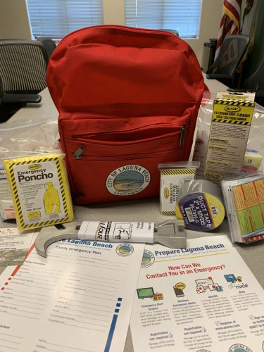 Police Files City Emergency Kit backpack
