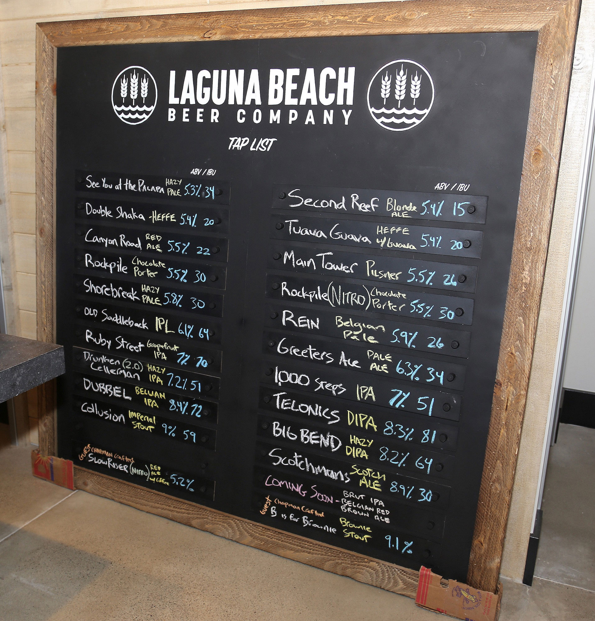 Cheers to Beer Menu