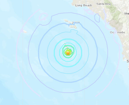 Four recent earthquakes hit map of Pacific