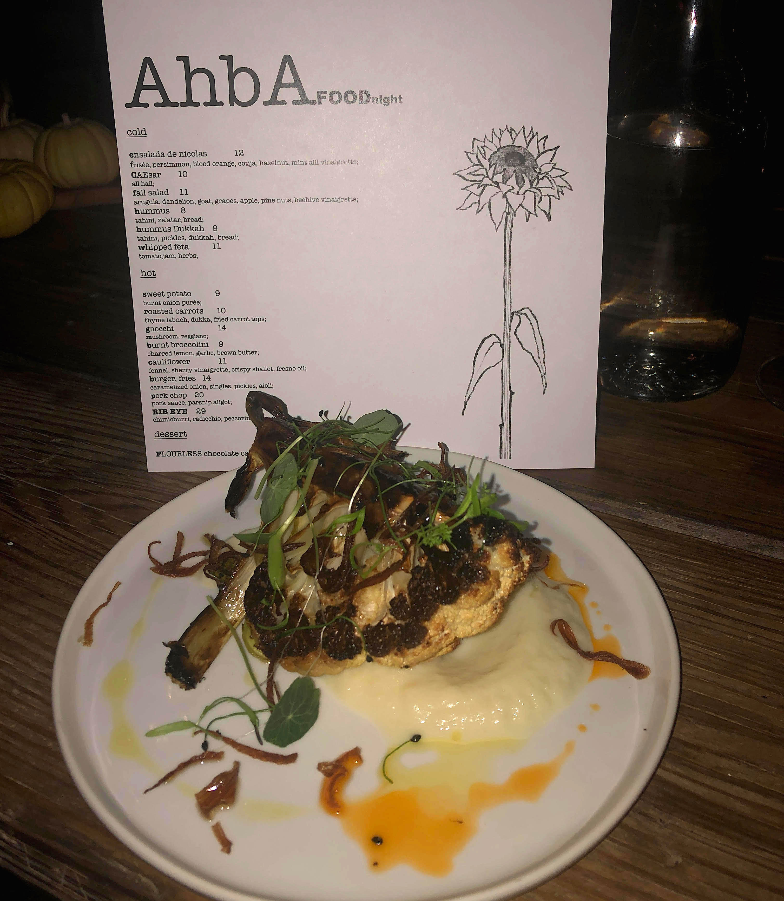 AhbA's dinner cauliflower