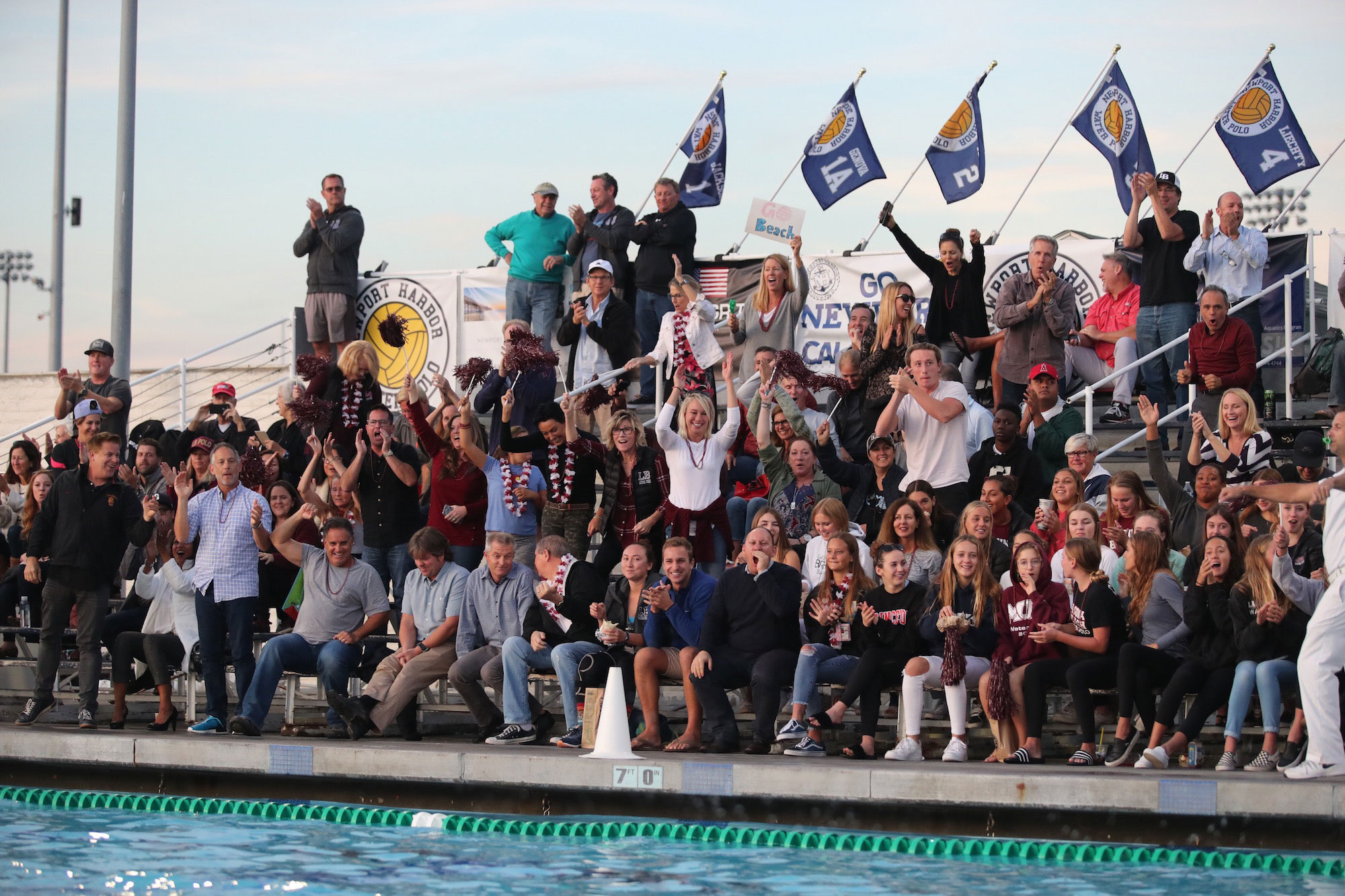 LBHS Water Polo crowd