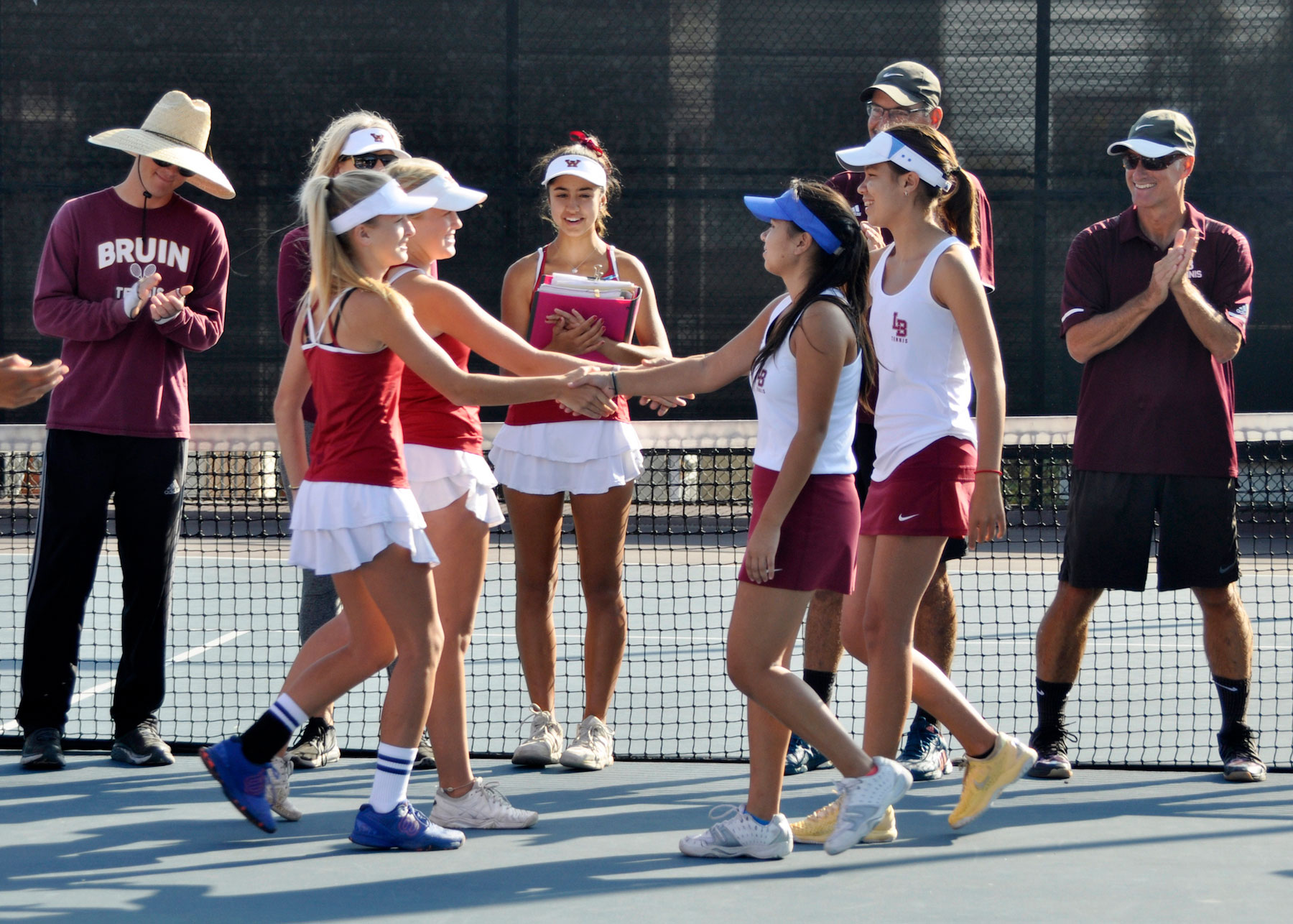 LBHS Girls Tennis three
