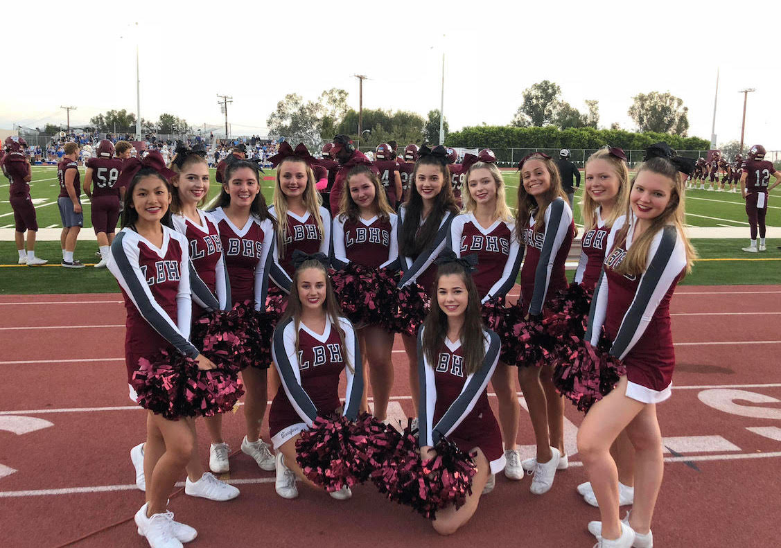LBHS cheer group