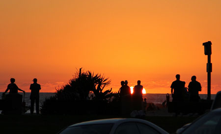 Americana canvas messenger bag Dramatic Sunset Over the Sea Tropical Beach Summer Idyllic Scenery Image canvas beach bag Purple Red Yellow 12x15-10